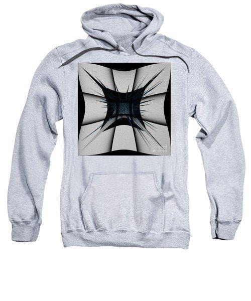 Sweatshirt featuring the digital art Silver Craft by Mihaela Stancu