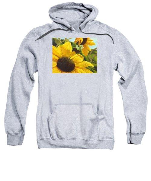 Silver Leaf Sunflowers Sweatshirt