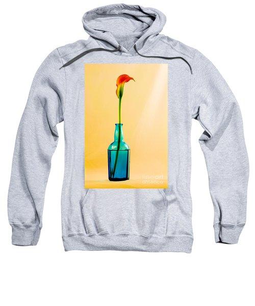Single Calla In Blue Bottle Sweatshirt