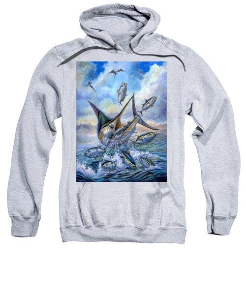 Small Tuna And Blue Marlin Jumping Sweatshirt