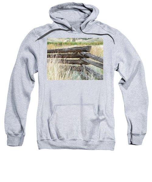 Snake Fence And Sage Brush Sweatshirt