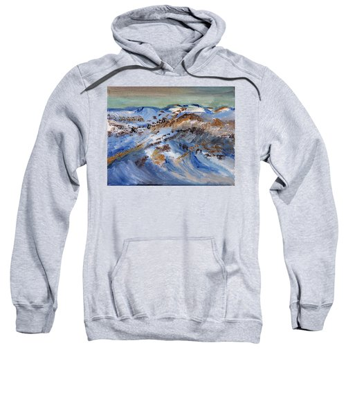 Snow Covered Sand Dunes Of Cape Cod Sweatshirt