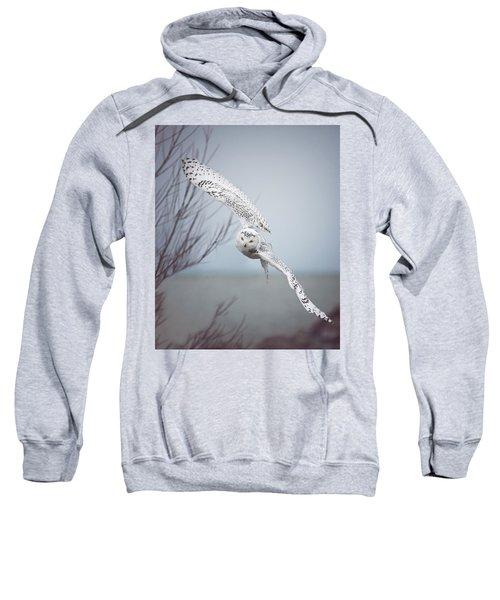 Snowy Owl In Flight Sweatshirt