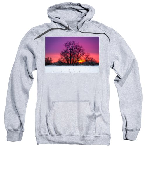 Snowy Sunset Sweatshirt