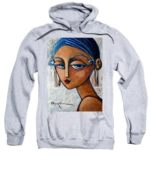 Sweatshirt featuring the painting Sofia by Oscar Ortiz