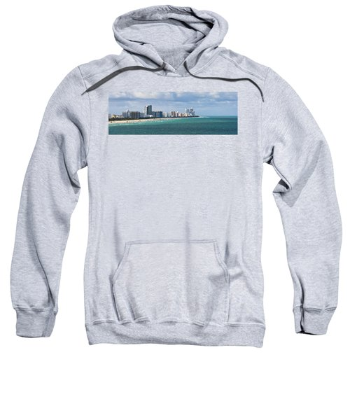 South Beach On A Summer Day Sweatshirt