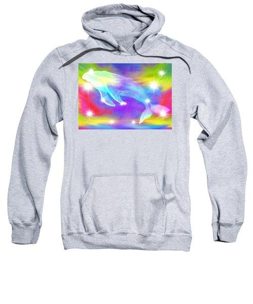 Spirit Whale In The Rainbow Sky Sweatshirt