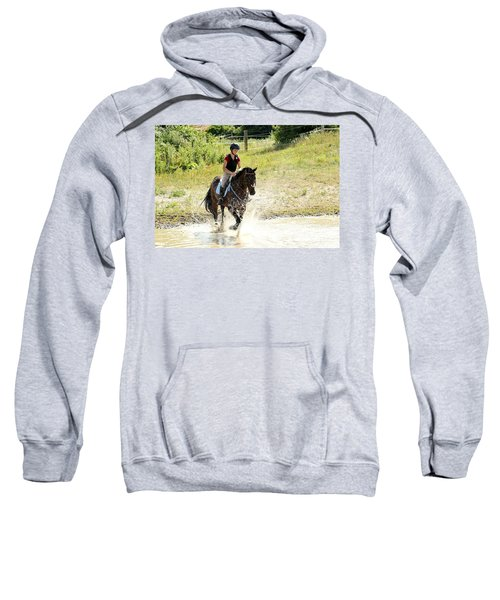 Splashing Thru Water Jump Sweatshirt