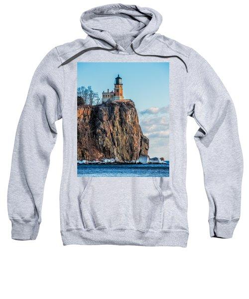 Split Rock Lighthouse In Winter Sweatshirt