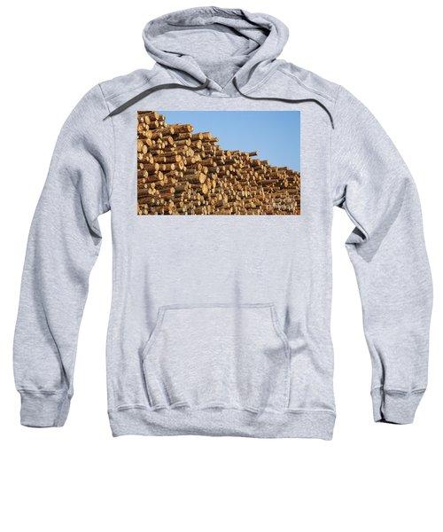 Stacks Of Logs Sweatshirt