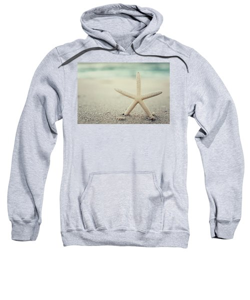 Starfish On Beach Vintage Seaside New Jersey  Sweatshirt