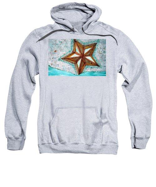 Starfish On The Beach Alcohol Inks Sweatshirt