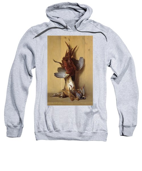 Still Life With A Hare, A Pheasant And A Red Partridge Sweatshirt
