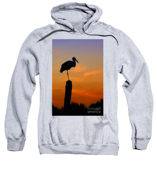 Storck In Silhouette High On A Pole Sweatshirt