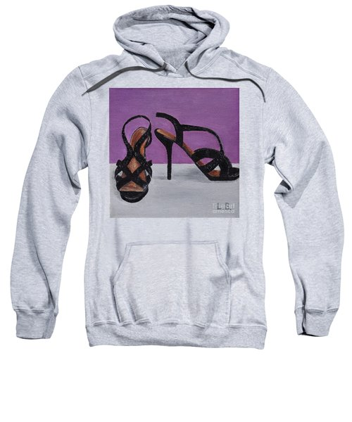 Strappy Black Heels For Maddy Sweatshirt