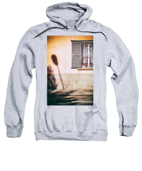 Sweatshirt featuring the photograph Street Lamp Shadow And Window by Silvia Ganora