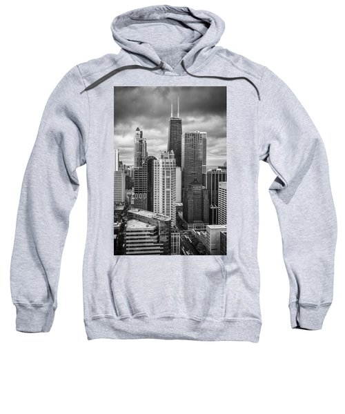 Streeterville From Above Black And White Sweatshirt