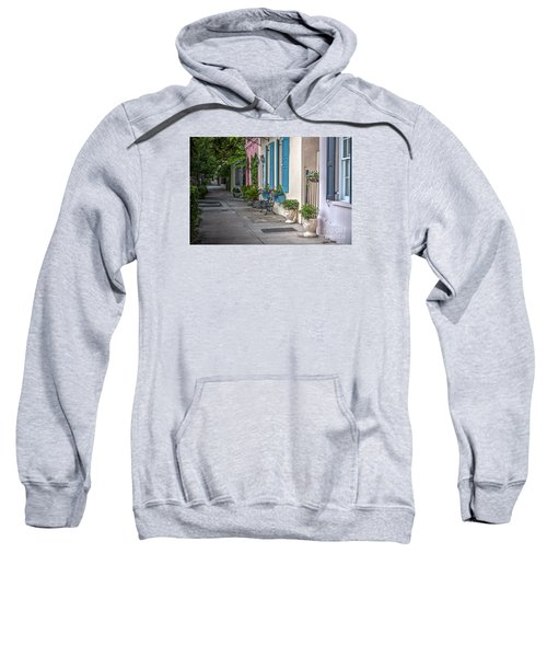 Strolling Down Rainbow Row Sweatshirt