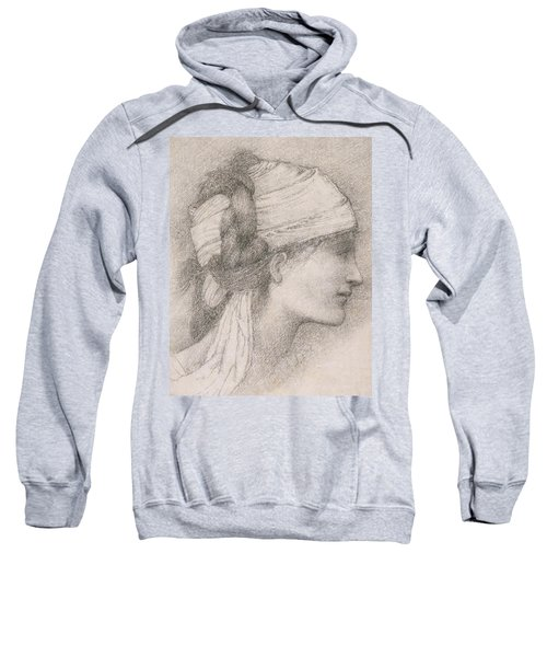 Study Of A Female Head To The Right Sweatshirt
