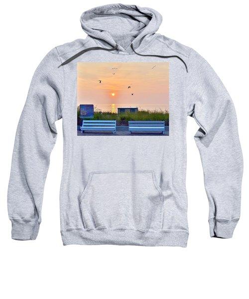 Sunrise At Rehoboth Beach Boardwalk Sweatshirt