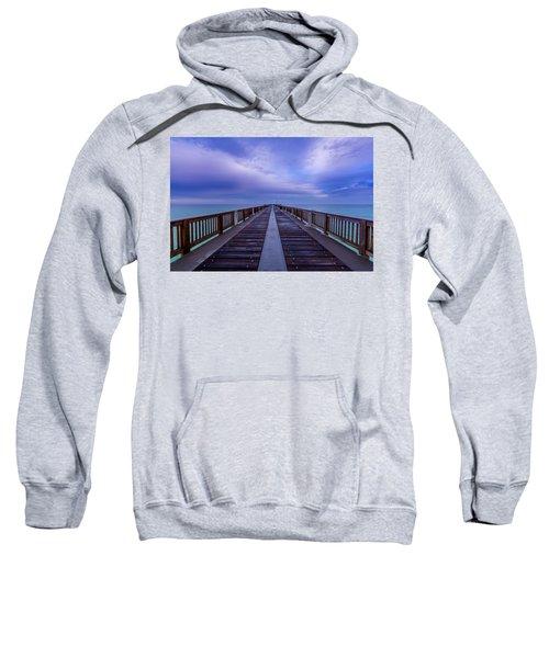 Sunrise At The Panama City Beach Pier Sweatshirt
