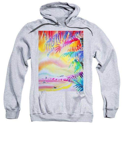 Sunset At Kuto Beach Sweatshirt