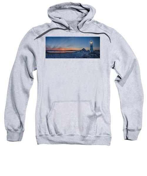 Sunset At Scituate Light Sweatshirt