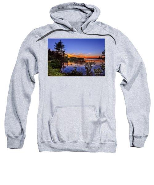 Sunset At The Waskesiu Lake Sweatshirt
