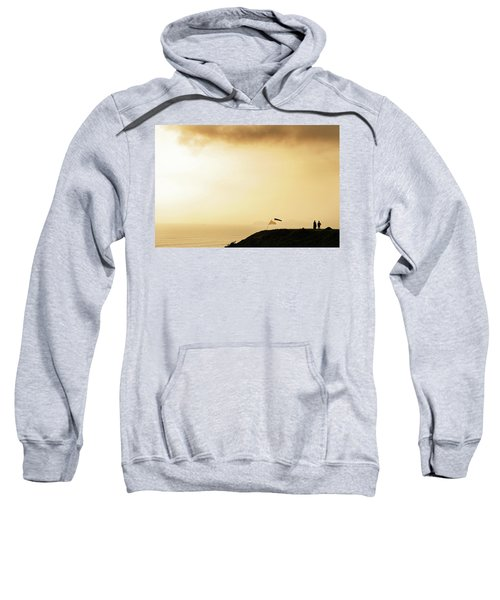 Sunset Over The Pacific Ocean In Lima Sweatshirt