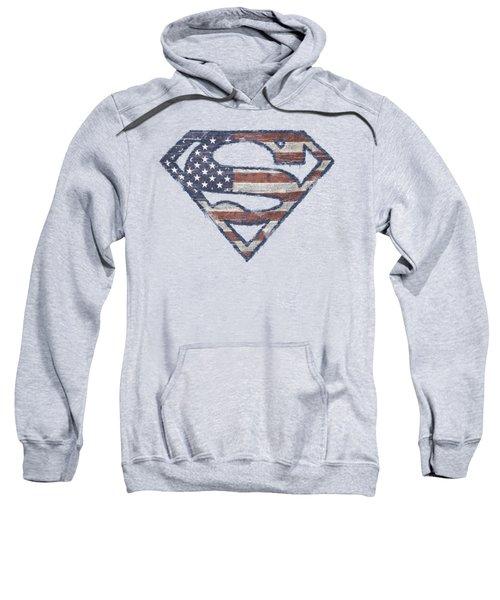 Superman - Wartorn Flag Sweatshirt