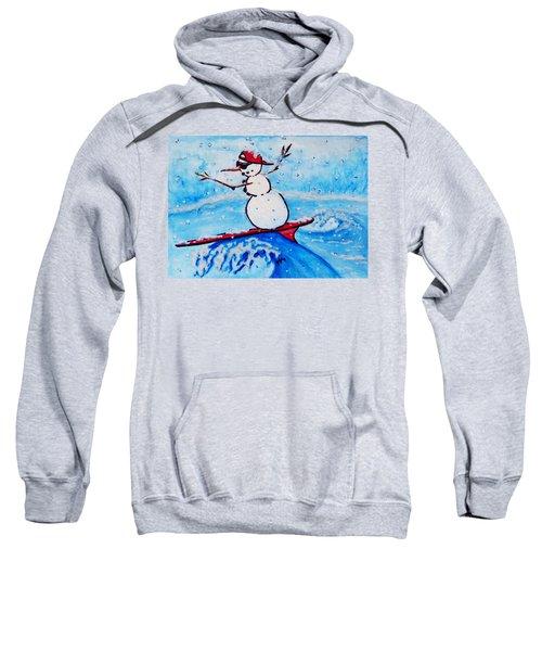Surfing Snowman Sweatshirt