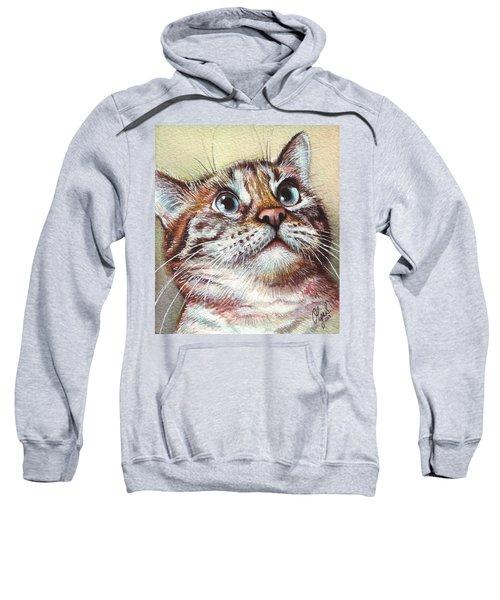 Surprised Kitty Sweatshirt by Olga Shvartsur