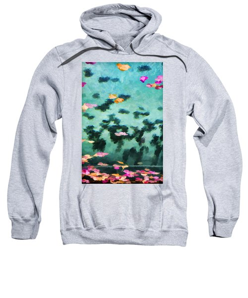 Swirling Leaves And Petals 2 Sweatshirt