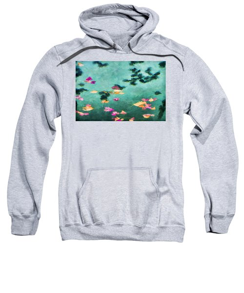 Swirling Leaves And Petals 6 Sweatshirt