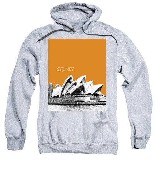 Sydney Skyline 3  Opera House - Dark Orange Sweatshirt