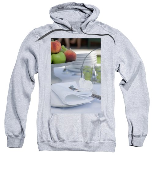 Table Laid Out Of Doors For A Summer Party Sweatshirt