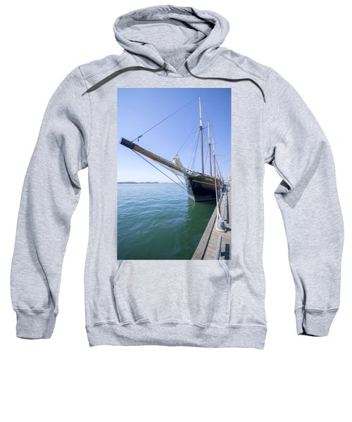 Sweatshirt featuring the photograph Tall Ship Kajama by Ross G Strachan