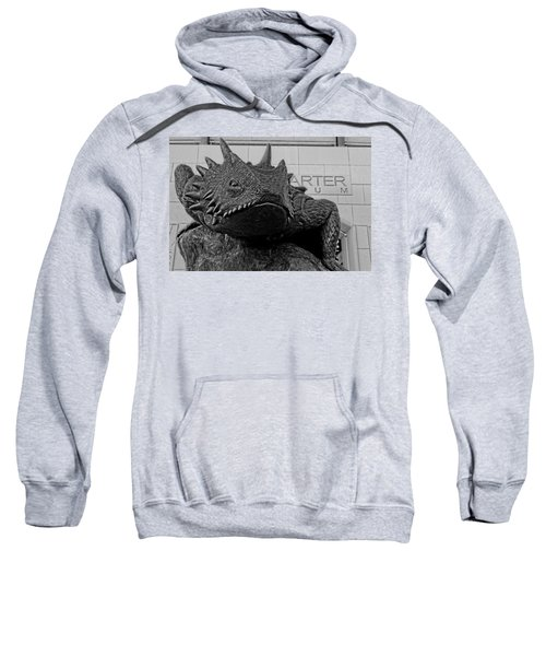 Tcu Horned Frog Black And White Sweatshirt