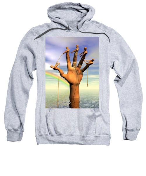 The Hand Is The Sum Of Its Fingers Sweatshirt