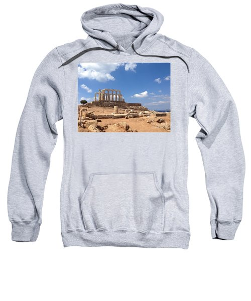 Sweatshirt featuring the photograph Temple Of Poseidon by Denise Railey