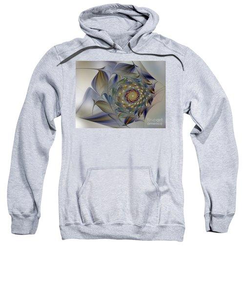Tender Flowers Dream-fractal Art Sweatshirt
