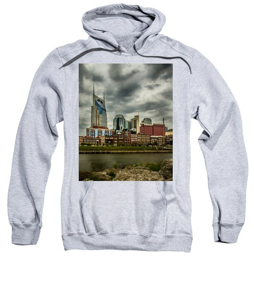Tennessee - Nashville From Across The Cumberland River Sweatshirt
