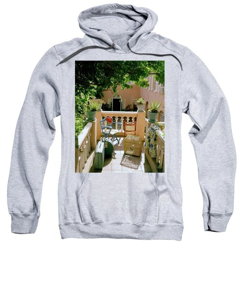 Terrace At A Guest House At Waterloo Sweatshirt