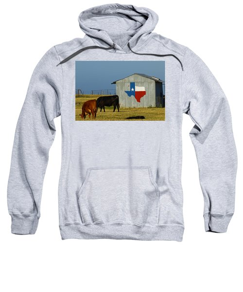 Texas Farm With Texas Logo Sweatshirt