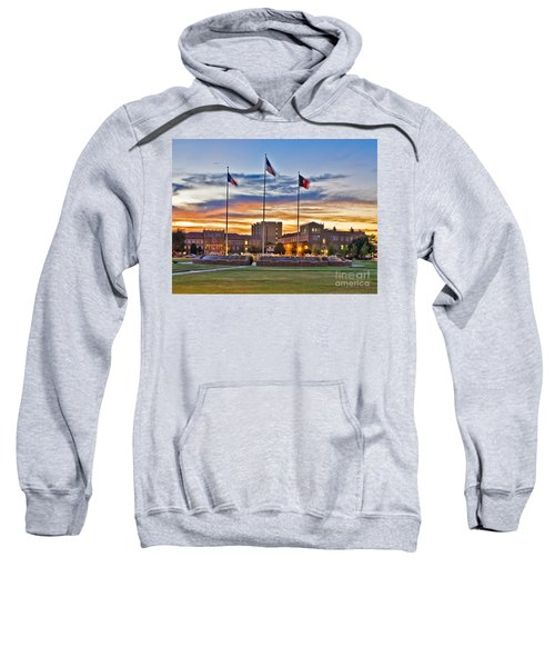 Sweatshirt featuring the photograph Memorial Circle At Sunset by Mae Wertz