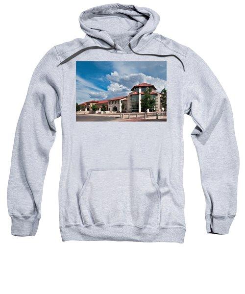 Sweatshirt featuring the photograph Texas Tech Student Union by Mae Wertz