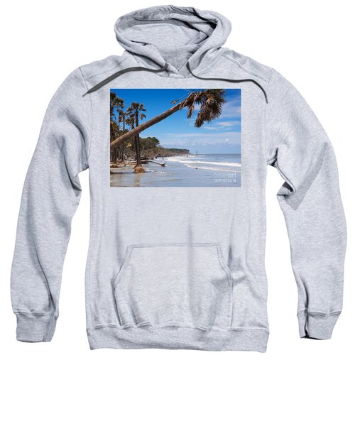 The Beach At Hunting Island State Park Sweatshirt