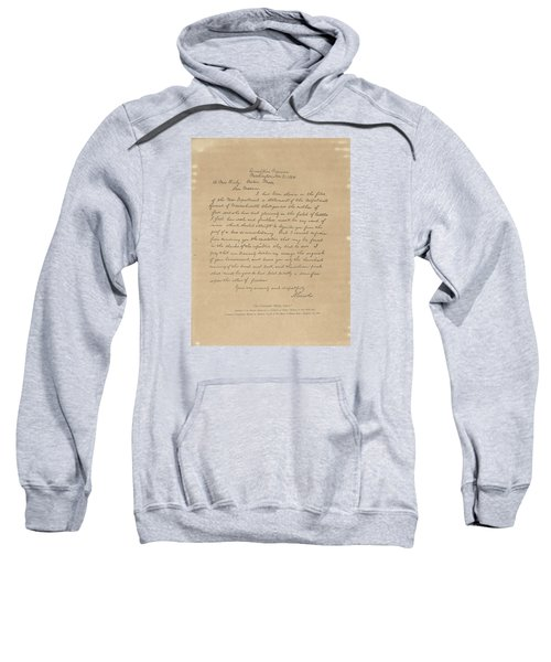 Sweatshirt featuring the painting The Bixby Letter by Celestial Images