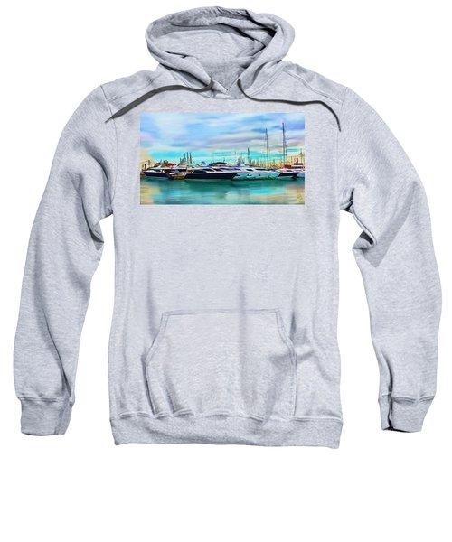 The Boats Of Malaga Spain Sweatshirt