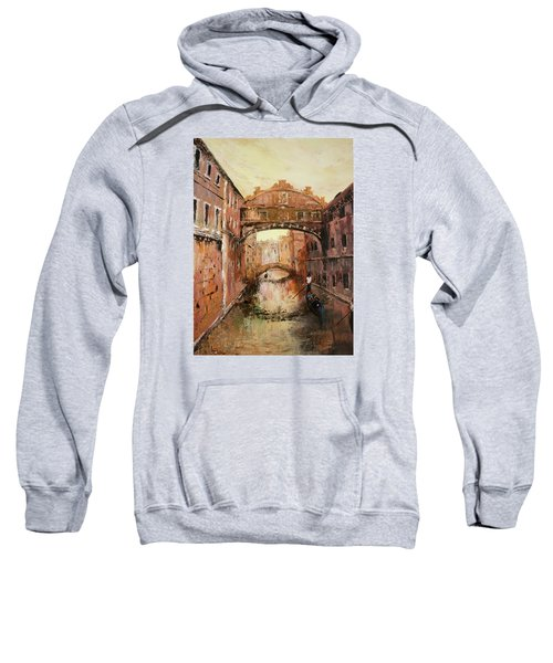 The Bridge Of Sighs Venice Italy Sweatshirt by Jean Walker
